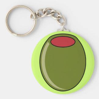 Green olive key chain