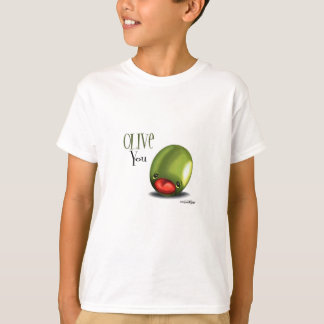 Green Olive you - I love you t-shirt