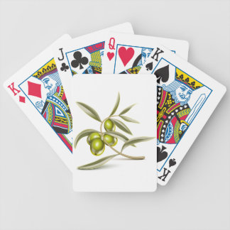Green olives branch bicycle playing cards