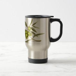 Green olives branch mug