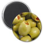 Green olives magnet