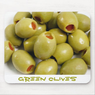 Green olives mouse mat