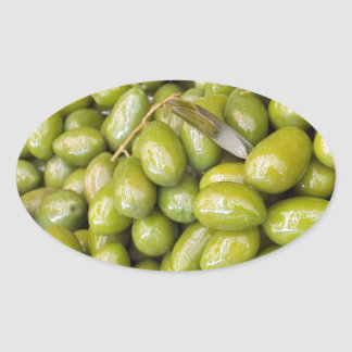 Green Olives Oval Sticker