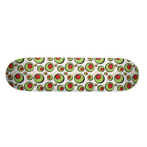 green olives pattern skate board decks