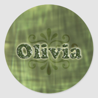 Green Olivia Stickers