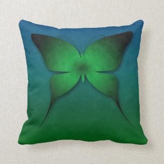 Green Ombre Butterfly Pillow