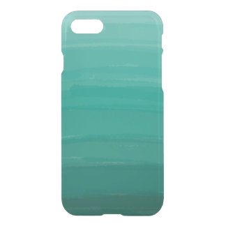 Green Ombre Clear iPhone Case