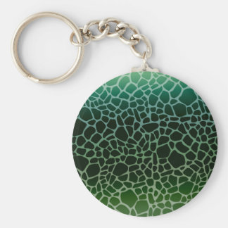 Green Ombre Giraffe Print Key Chains