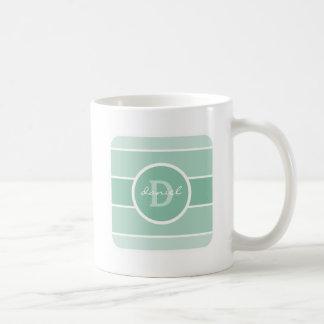 Green Ombre Monogram Coffee Mug