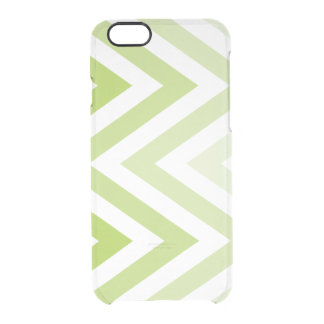 Green Ombre Zigzags Clear iPhone 6/6S Case