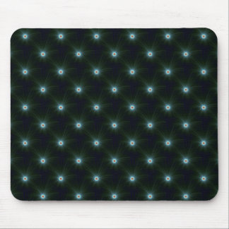 Green on Blue Color Explosion Mousepad