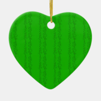 green on green ceramic heart decoration