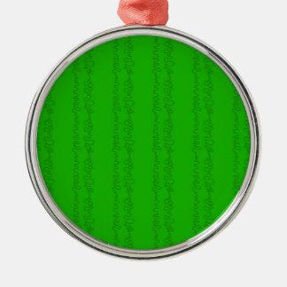 green on green christmas ornament