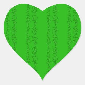 green on green heart sticker