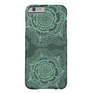 Green on Green Mandala Pattern Barely There iPhone 6 Case