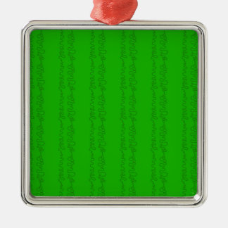 green on green Silver-Colored square decoration