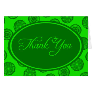 Green on Green Thank You Card