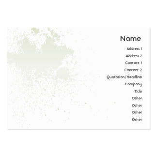Green On White Splatter - Chubby Pack Of Chubby Business Cards