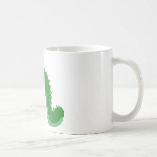 Green One Eyed Snake Monster Coffee Mug