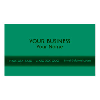 Green only customizable front side business cards