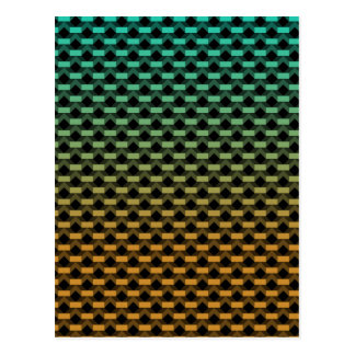 Green Orange Geometric Gradient Postcard