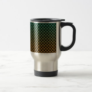 Green Orange Geometric Gradient Stainless Steel Travel Mug