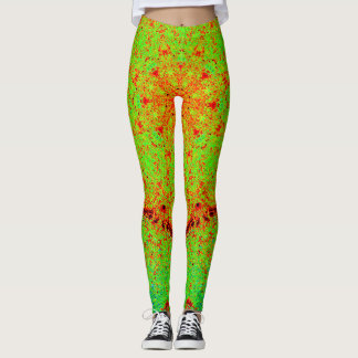 Green&Orange Mandala Leggings