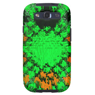 Green Orange Modern Diamond Urban Pattern Design Samsung Galaxy SIII Case