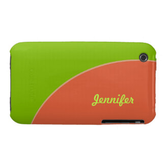 Green Orange Retro Circle iPhone 3 Cover