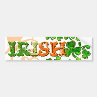 Green Orange White Irish Shamrock Bumper Sticker