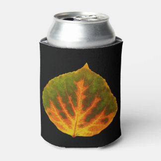 Green Orange & Yellow Aspen Leaf #1 Can Cooler