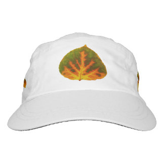 Green Orange & Yellow Aspen Leaf #1 Hat