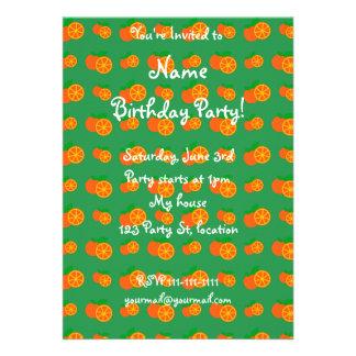 Green oranges pattern cards