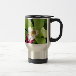 Green Orchid Stainless Steel Travel Mug