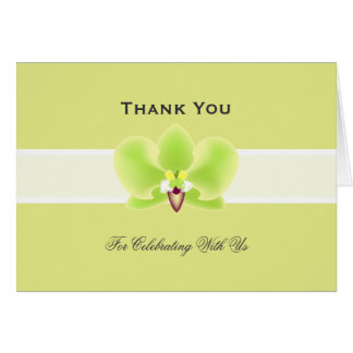 Green Orchid THANK YOU card
