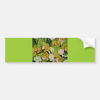 Green Orchids of Love_ Bumper Sticker