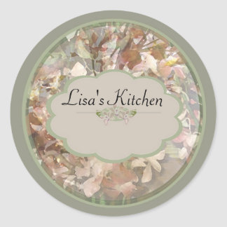 Green Orchids Spice jar labels