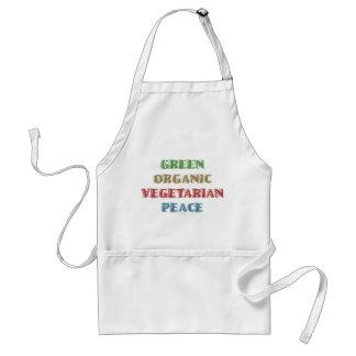 Green Org Veg Peac Adult Apron