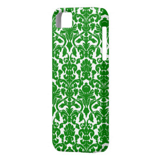 Green Ornate Floral Damask Pattern Case For The iPhone 5