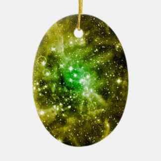 Green Outer Space Christmas Ornament