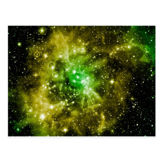 Green Outer Space Postcard