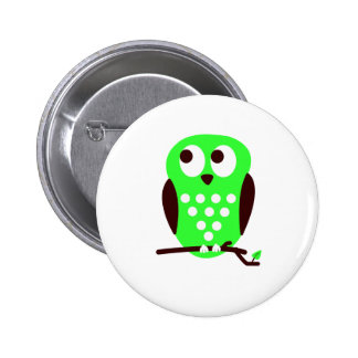 Green Owl Pin