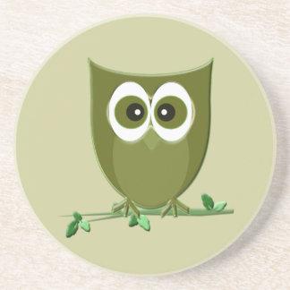 Green Owl Coaster