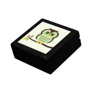 Green Owl Illustration Gift Box