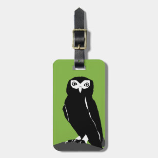 Green Owl Luggage Tags