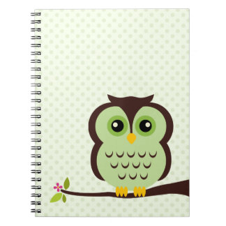 Green Owl Notebook