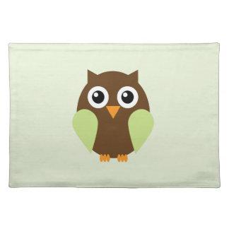Green Owl Place Mats
