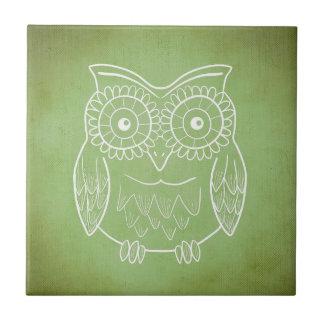 Green Owl Tile