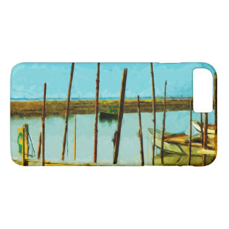 Green Oyster Boat Abstract Impressionist iPhone 7 Plus Case