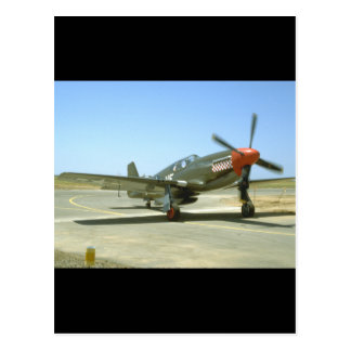 Green P51 Mustang Taxiing_WWII Planes Postcard